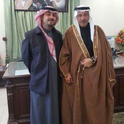 بالصور..القائم بأعمال محافظ طريف يستقبل مدير مطار طريف الجديد
