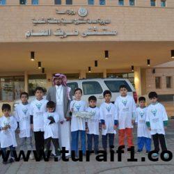 طلاب نادي الحي بنين بطريف يقومون بزيارة لمستشفى طريف