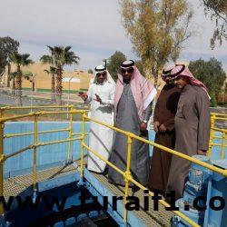 """""""الخليف"""" يتفقد المنظومة المائية الموجودة بإسكان قوى الأمن في طريف"""