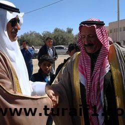 السفير السعودى لدى الأردن يقدم واجب العزاء لقبيلة الحويطات بمعان