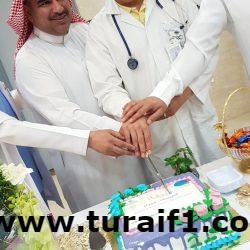قسم الكلى بمستشفى طريف العام يقيم حفل معايدة لمرضى القسم