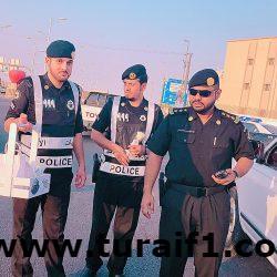 الدوريات الأمنية بمحافظة طريف تحتفل باليوم الوطني الثامن والثمانون