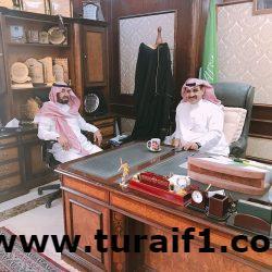 محافظ طريف يستقبل مدير  مكتب العمل عبدالله المنفي