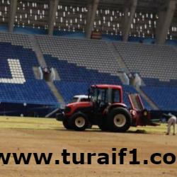 """إعلان موعد انتهاء زراعة العشب الجديد بملعب """"الرعب"""""""