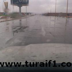 بالصور الأمطار تهطل على محافظة طريف