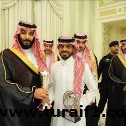 ولي العهد يستقبل لاعبي المنتخب السعودي للشباب