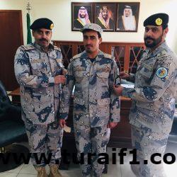 قائد قطاع حرس الحدود بمحافظة طريف يُقلد «الطرفاوي » رتبة الجديدة