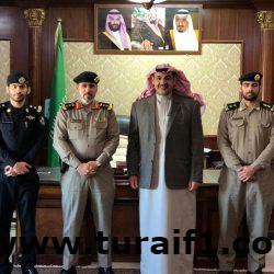 محافظ طريف يجتمع بمدراء الجهات الأمنية بالمحافظة