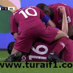 قطر تفوز على العراق بقدم عراقية سورية