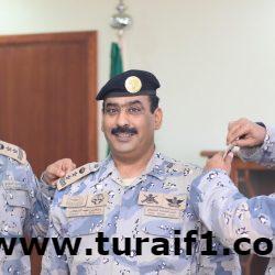 قائد حرس الحدود بالجوف يقلد الرائد /احمد بن هليل الشراري رتبته الجديدة