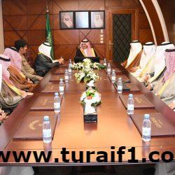 محافظ طريف يستقبل أسامة الاشجعي مدير مكتب عمل طريف ويشكر المنفي على مجهوداته