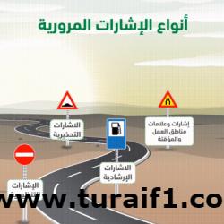 """""""المرور"""": 4 أنواع من الإشارات في الطرق يجب التقيد بها"""