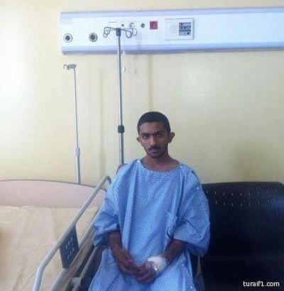 اخبارية طريف تزور الناجي من الحادث ولا صحة لتدهور حالته