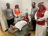 ( دمك .. حياة لغيرك ) حملة للتبرع بالدم  أطلقها فرع الهلال الأحمر بالشمالية