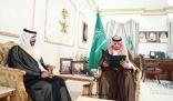 أمير منطقة الحدود الشمالية يستقبل مدير فرع هيئة حقوق الإنسان بالمنطقة