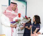 أمير منطقة الحدود الشمالية يهنئ المرضى المنومين بشهر رمضان المبارك