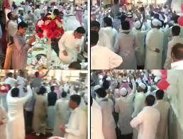 حفل معايدة وشيلات ورقص داخل مسجد باصبرين في جدة