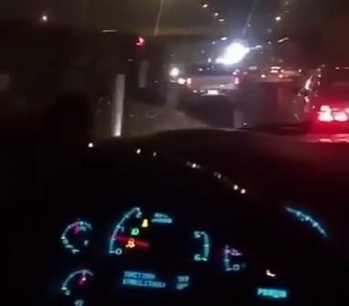 مواطن يوثق بجواله حادثا مروريا فيفاجأ بالصدم من الخلف