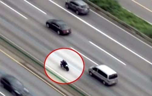 الشرطة الكورية تطارد وتوقف سعوديًا قاد دراجته النارية بسرعة وتهور