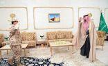 سمو الأمير فيصل بن خالد بن سلطان يستقبل قائد قوة الواجب (10) بالحرس الوطني