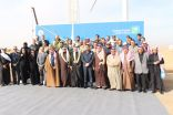 بالصور..تدشين أول توربين هوائي لتوليد الطاقة من الرياح في المملكة بمحافظة طريف