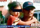 مزارع ينقذ حياة طفلة في السابعة بعد دفنها حية بواسطة أقارب وهميين