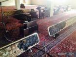 بالصور.. مجهول يحاول إشعال النار في مسجد التوحيد بالسليل