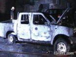 احرق سيار من نوع نيسان من قبل مجهولين بطريف