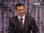 الأسد في كلمته الآن يرفض الحوار مع المعارضة ويتهمها بالإرهاب والعمالة
