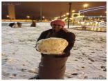صور الثلوج تغطي الآن محافظة طريف ( تحديث مستمر للصور )