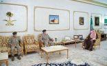 سمو أمير الحدود الشمالية يستقبل اللواء العصيمي بمناسبة تعيينه قائدًا لقوة عرعر