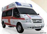 وصول سيارة اسعاف عالية التجهيز (عنايه فائقه ) لمستشفى طريف