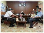 فريق تقويم المدارس المعززة للصحة بوزارة التعليم يزور مدرسة عبدالله بن مسعود بطريف