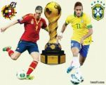ملحمة كروية بين البرازيل واسبانيا في نهائي كأس العالم للقارات