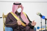سمو أمير الحدود الشمالية يستقبل مسؤولي المنطقة والمواطنين في جلسة الأثنينية