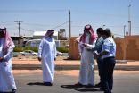 بالصور .. رئيس بلدية محافظة طريف يقف ميدانيا على عدة مشاريع