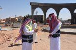 """بالصور .. """"الضبعان"""" يقف على مشروعي  إعادة تأهيل حي الورود ودوار طريق عائشة"""