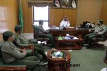 مدير عام الجوازات بمنطقة الجوف في زيارة للبريد السعودي