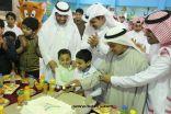 محافظ طريف يشارك ابناء نادي الحي احتفالهم