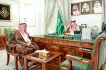 سمو أمير الحدود الشمالية يستقبل مدير فرع وزارة الإسكان بالمنطقة