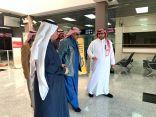 محافظ طريف يزور مطار محافظة طريف زياره تفقدية