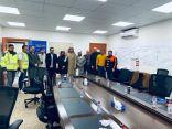 بالصور.. حملة توعوية لمستشفى طريف عن فيروس كورونا الجديد بوعد الشمال ومطار طريف