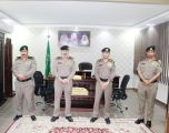 مدير شرطة الحدود الشمالية يقلد عدد من الضباط رتبهم الجديدة