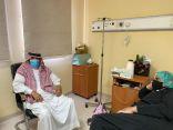 """رجل الأعمال """"المدوح"""" يطمئن على صحة """"الدغماني"""" بعد إجرائه عملية جراحية في مستشفى طريف"""