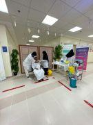 مركز التأهيل الشامل للاشخاص ذوي الإعاقة بعرعر يشارك بحملة التطعيم