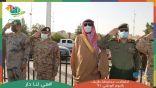 بالصور .. رفع ثالث أكبر علم بطريف بحضور المحافظ وعدد من القيادات العسكرية بالمحافظة