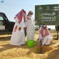 بالصور .. المركز الوطني لتنمية الغطاء النباتي ومكافحة التصحر يطلق حملة تشجير في الشمالية