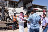 بالصور .. رئيس بلدية طريف يقف ميدانياً على عدد من المشاريع بالمحافظة