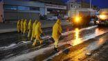 بالفيديو والصور.. بلدية طريف تواصل أعمال رش وتطهير الشوارع والأماكن العامة بالمحافظة